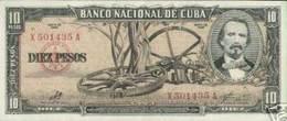 CUBA/KUBA 1960 BANCONOTA 10 PESOS  CON FIRMA DI CHE GUEVARA - Kuba
