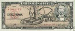 CUBA/KUBA 1960 BANCONOTA 10 PESOS  CON FIRMA DI CHE GUEVARA - Cuba