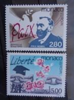 MONACO 1995  Y&T N° 1987 & 1988 ** - PAIX ET LIBERTE - Neufs