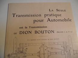 De DION BOUTON, Livret Publicitaire, Transmission , Salon  1902 - Publicités