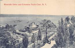 A-19-2200 : RIVERSIDE DRIVE AND COLUMBIA YATCH CLUB. N. Y. - NY - New York