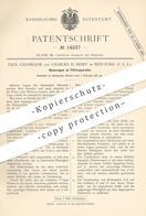 Original Patent - Paul Casamajor , Charles H. Senff , New York , USA , 1881 , Filtrierapparat | Filter , Filtern !!! - Historische Dokumente