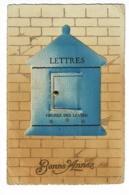Carte Illustrée, Boite Aux Lettres Collée Sur Charnières, Le Porte S'ouvre Sur Des Lettres, Message Bonne Année - 1932 - Thanksgiving