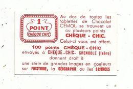 Publicité , 1 Point Chèque CHIC ,Grenoble , Isére - Publicités