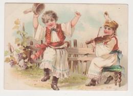 26833 Chromo CHOCOLAT De GUYENNE Roudel BORDEAUX - Enfant Danseur Violon Russe Roumain ? - Chocolat