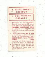 Publicité , 1 Bon-timbre CEMOI , Grenoble , Isère - Publicités