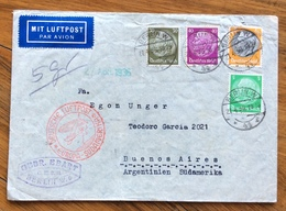 GERMANIA ARGENTINA  COVER DEUTSCHE LUFTPOST EUROPA-SUDAMERIKA 21/4/36 FROM BERLIN  TO BUENOS AIRES - Briefe U. Dokumente