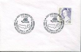 42381 Italia, Special Postmark 2003 Montichiari  Guglielmo Marconi And  Airship Italia,  Dirigibile, Tenda Rossa - Premio Nobel