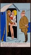 CPSM ILLUSTRATEUR RENE CAILLE PIN UP  MILITAIRE FEMME SEXY BEN MON COLONEL CA VOUS EST JAMAIS ARRRIVE D AVOIR FROID ? - Illustrateurs & Photographes