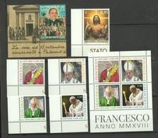 2018 - VATICAN - VATICANO - VATIKAN - SAAH - MNH - SET OF 10 STAMPS ** - Unused Stamps
