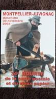CPM SALON BOURSE COLLECTION CARTES POSTALES JUVIGNAC MONTPELLIER 30 11 2003 METIER MARIO SABOTIER A ROQUEMAURE GARD - Bourses & Salons De Collections