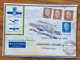 GERMANIA URUGUAY  COVER CONDOR ZEPPELLIN VUELO SETTEMBRE 1932  FROM HAMBURG  TO MONTEVIDEO - Briefe U. Dokumente
