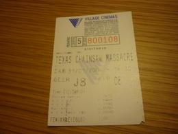 Texas Chainsaw Massacre Greece Greek Village Cinemas Movie Cinema Ticket Stub - Biglietti D'ingresso