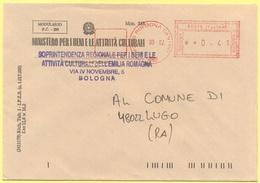 ITALIA - ITALY - ITALIE - 2002 - 00,41 EMA, Red Cancel - Comune Di Bologna - Viaggiata Da Bologna Per Lugo - Affrancature Meccaniche Rosse (EMA)