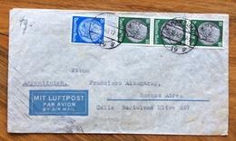 GERMANIA ARGENTINA  COVER PAR AVION   FROM HAMBURG 16/12/40   TO BUENOS AIRES   CON CENSURA - Briefe U. Dokumente