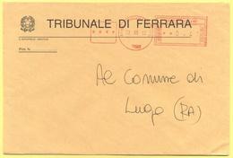 ITALIA - ITALY - ITALIE - 2002 - 00,41 EMA, Red Cancel - Tribunale Di Ferrara - Viaggiata Da Ferrara Per Lugo - Affrancature Meccaniche Rosse (EMA)