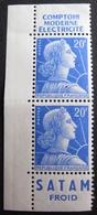 DF50500/217 - 1955 - TYPE MARIANNE DE MULLER - (PAIRE De CARNET) N°1011Bb NEUFS** (timbres Seulement) - 1955- Marianne De Muller