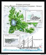 TAAF   2012   Emission Commune Avec Monaco  CAT YT  Bloc    N** MNH - Blocs-feuillets
