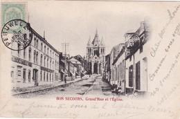 BON SECOURS  GRAND 'RUE ET L'EGLISE 1900 - Péruwelz