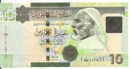 LIBYE 10 DINARS 2011 UNC P 78A B - Libye