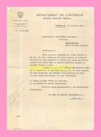 LETTRE DU DEPARTEMENT DE L INTERIEUR , SERVICE SANITAIRE MEDICAL DE LAUSANNE 1948àMlle Leguyader Dentiste à Saint Brieuc - Diplome Und Schulzeugnisse