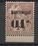 Martinique - 1888-1891 - N°Yv. 8 - 01 Sur 4c Brun - Bord De Feuille - Neuf Luxe ** / MNH / Postfrisch - Martinique (1886-1947)