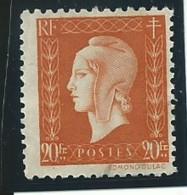FRANCE: Obl., N° YT 700, TB - 1944-45 Marianne De Dulac