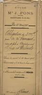 Acte Notarié : Obligation De 3000 Francs - Roquevaire 1911 - Documents Historiques