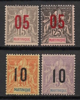 Martinique - 1912 - N°Yv. 78 à 81 - Série Complète - Neuf ** Luxe / MNH / Postfrisch - Martinique (1886-1947)