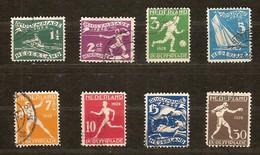 Pays-Bas Nederland 1928 Yvertn° 199-206 (°) Oblitéré Used Cote 55 Euro Sport - 1891-1948 (Wilhelmine)