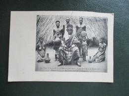 CPA AFRIQUE BENIN DAHOMEY PORTO NOVO CHEF FETICHEUR SLIGBO KLOUNON ET SES SERVANTS - Benin