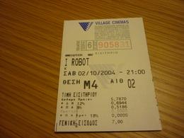 I Robot Greece Greek Village Cinemas Movie Cinema Ticket Stub - Biglietti D'ingresso