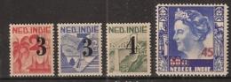 Ned Indie 1947 Hulpuitgifte NVPH 322-325 Postfrisch/MNH/** - Indes Néerlandaises