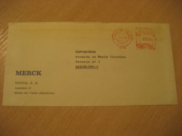 MOLLET DEL VALLES 1978 MERCK Meter Mail Cancel Cover SPAIN Chemistry Chemical Chimie Science - Chimie