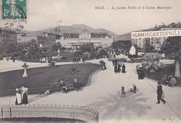 NICE - Dépt 06 - Le Jardin Public Et Le Casino Municipal - 1908 - Parks, Gärten