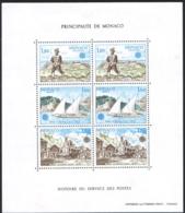 Monaco 1979 Bloc 17 (YT) Histoire Du Service Des Postes - Europa -non-plié Neuf/MNH/**/Postfrisch Train, Locomotive - Blocs