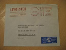 PARIS 1965 Lavoisier Livres Scientifiques Meter Mail Cancel Cover FRANCE Chemistry Chemical Chimie Science - Chemistry