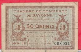 50 Centimes Chambre De Commerce De Bayonne  Dans L 'état (114) - Chambre De Commerce