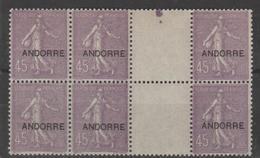 ANDORRA CORREO FRANCES 6 SELLOs NUEVOs  *** SIN CHARNELA (C.CLASICOS. - French Andorra