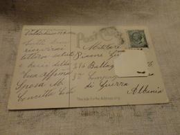 CARTOLINA VIAGGIATA N.Y ZONA DI GUERRA ALBANIA-1916 - Albania