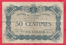 50 Centimes Chambre De Commerce De Rennes  Dans L 'état (116) - Chambre De Commerce