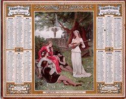 Almanach Des Postes 1894 Bon état,oberthur Et Fils,le Chant Du Soir - Calendriers