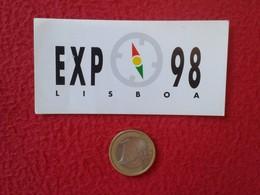 PEGATINA ADHESIVO STICKER PORTUGAL EXPO 98 1998 EXPOSICIÓN UNIVERSAL LISBOA LISBON EXPOSITION VER FOTOS Y DESCRIPCIÓN - Pegatinas