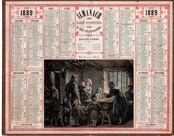 Almanach Des Postes 1889 Bon état,oberthur Et Fils, Retour De La Pèche... - Calendari