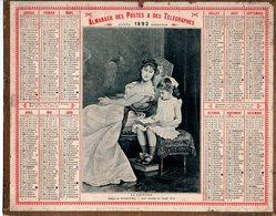 Almanach Des Postes 1892 Bon état,oberthur Et Fils, La Lecture - Calendriers