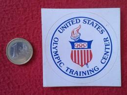 PEGATINA ADHESIVO STICKER UNITED STATES USA OLYMPIC TRAINING CENTER CENTRO DE ENTRENAMIENTO OLÍMPICO ESTADOS UNIDOS VER - Pegatinas