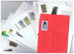 LOT LETTRES TIMBRES AUTOADESIFS  ANNEES 2010  2011  2012 - 1961-....