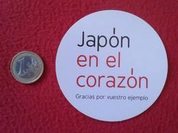 SPAIN PEGATINA ADHESIVO STICKER JAPÓN EN EL CORAZÓN JAPAN IN THE HEART NIPPON GRACIAS POR VUESTRO EJEMPLO THANK YOU VER - Pegatinas