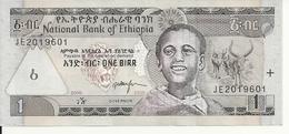 ETHIOPIE 1 BIRR 2008 UNC P 46 E - Ethiopie