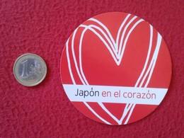 SPAIN PEGATINA ADHESIVO STICKER JAPÓN EN EL CORAZÓN JAPAN IN THE HEART NIPPON LE JAPON AU COEUR VER FOTO Y DESCRIPCIÓN - Pegatinas